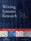 Writing Systems Research cover